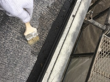 屋根下塗り 刷毛