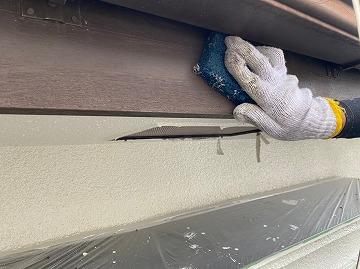 奈良市にて付帯部の塗装作業をしました