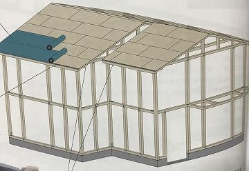 下葺材の施工