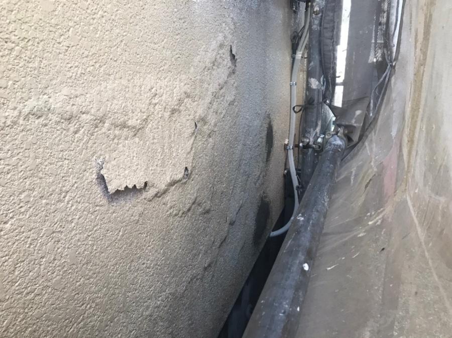 葛城市にてボンタイル壁の修繕工事と外壁塗装