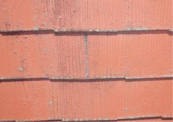 表面の剥離が始まった屋根材